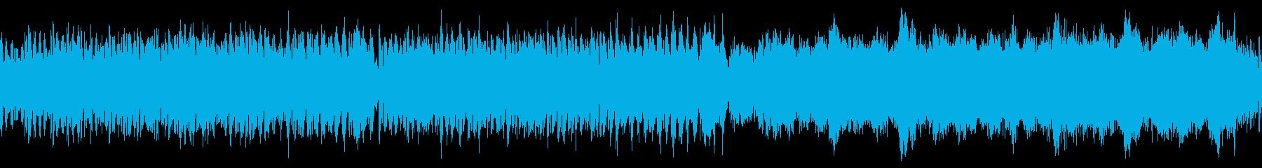 ピアノとストリングスの明るい曲の再生済みの波形