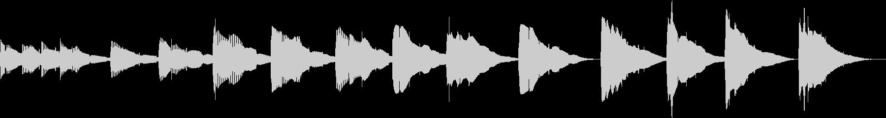 潜んでいるトーンベースの未再生の波形