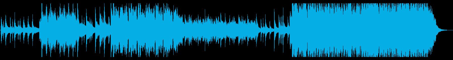 和風で幻想的なイメージのピアノと笛の再生済みの波形