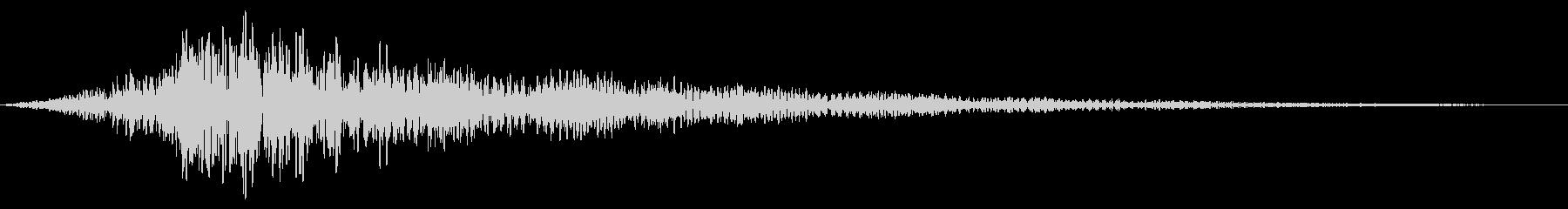 ホラー系アタック音137の未再生の波形