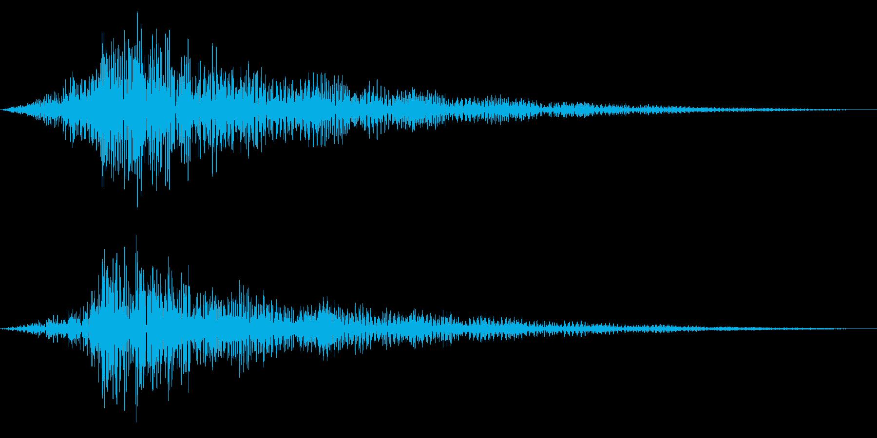 ホラー系アタック音137の再生済みの波形