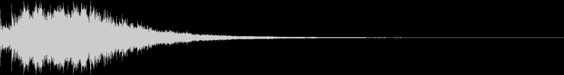 ミステリアスなタイトルロゴ③の未再生の波形