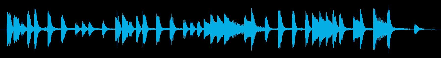 ほのぼのコミカルな ピアノのジングルの再生済みの波形