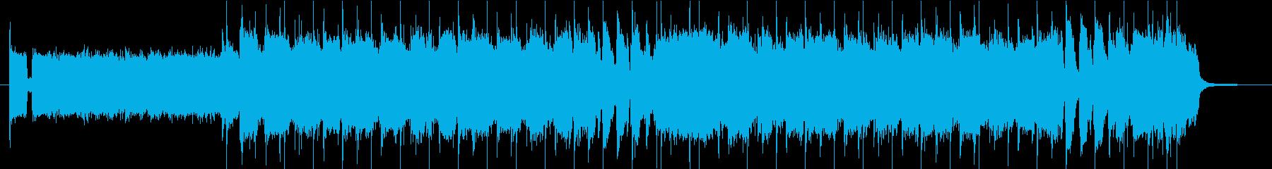 ロックンロールな30秒ジングルの再生済みの波形