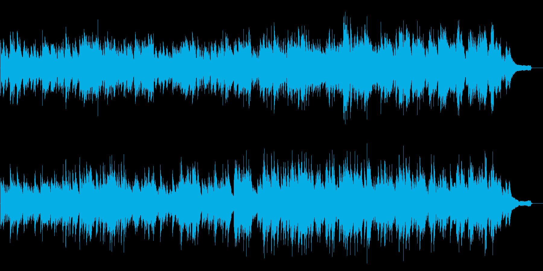 ゆったりとした優しいピアノソロの再生済みの波形