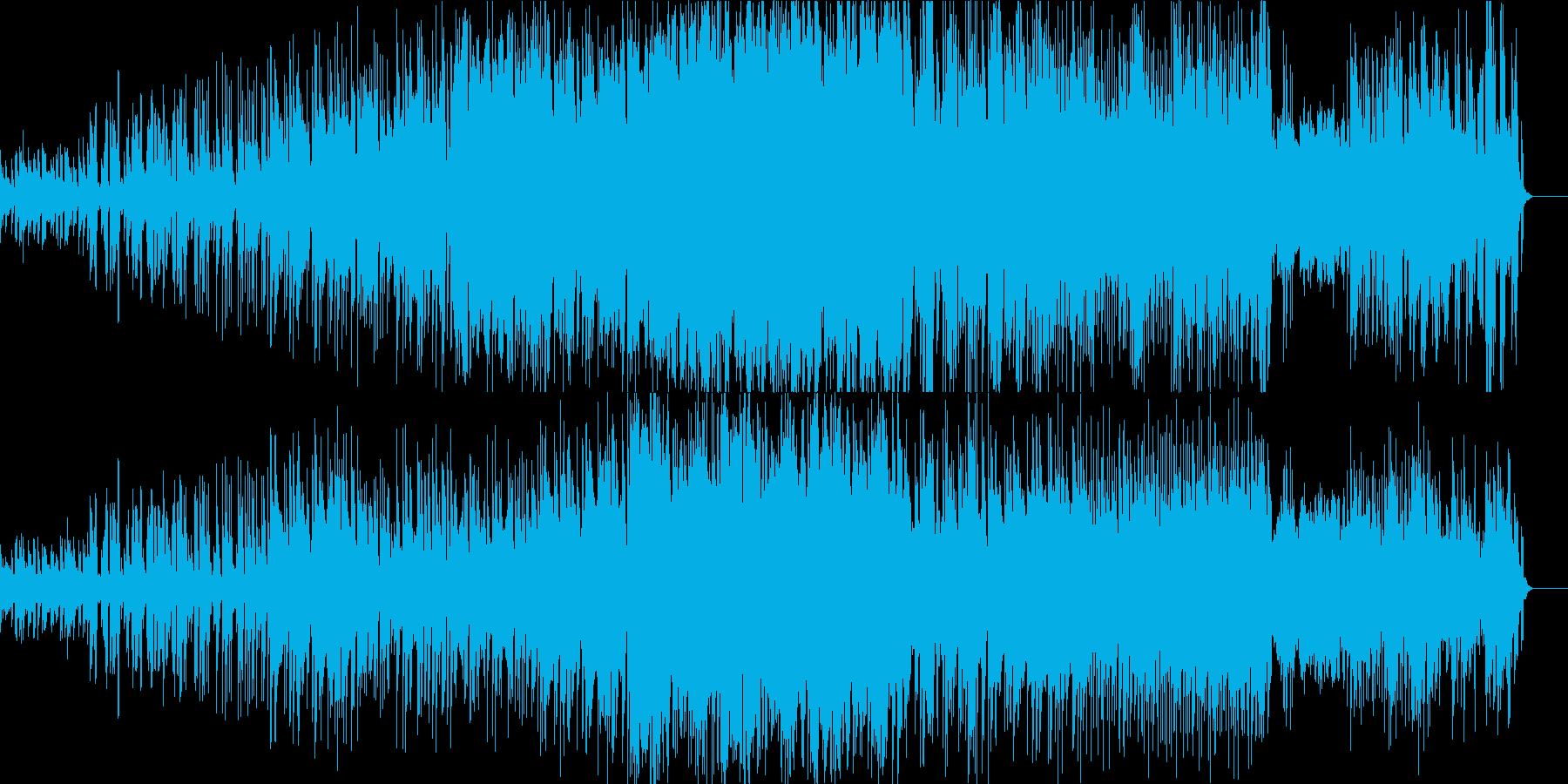 エレクトロ系 弦、シンセブラス、ドラムの再生済みの波形