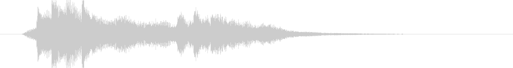 サウンドロゴ、ジングル#4の未再生の波形