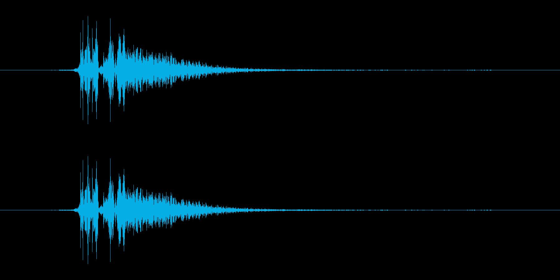 ハードフェイススラップまたはパンチの再生済みの波形