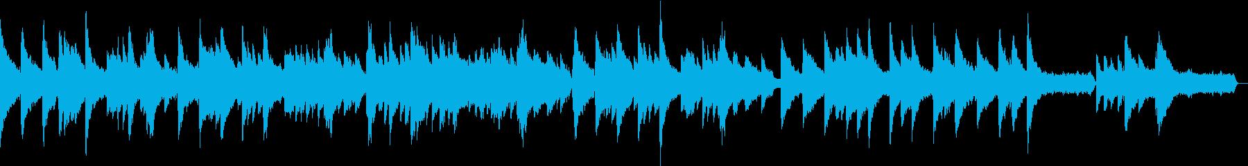 ピアノとストリングスのゆったりした曲の再生済みの波形