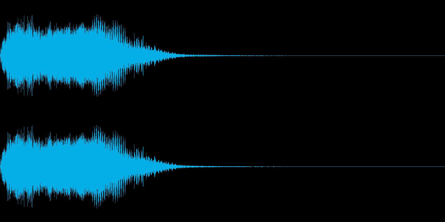 スパーク音-06の再生済みの波形