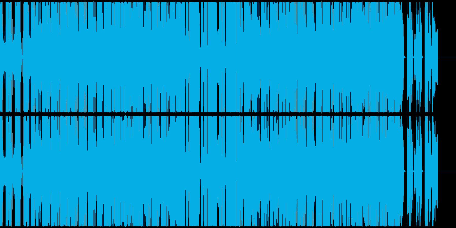 ポップで鮮やかなファンクエレクトロの再生済みの波形
