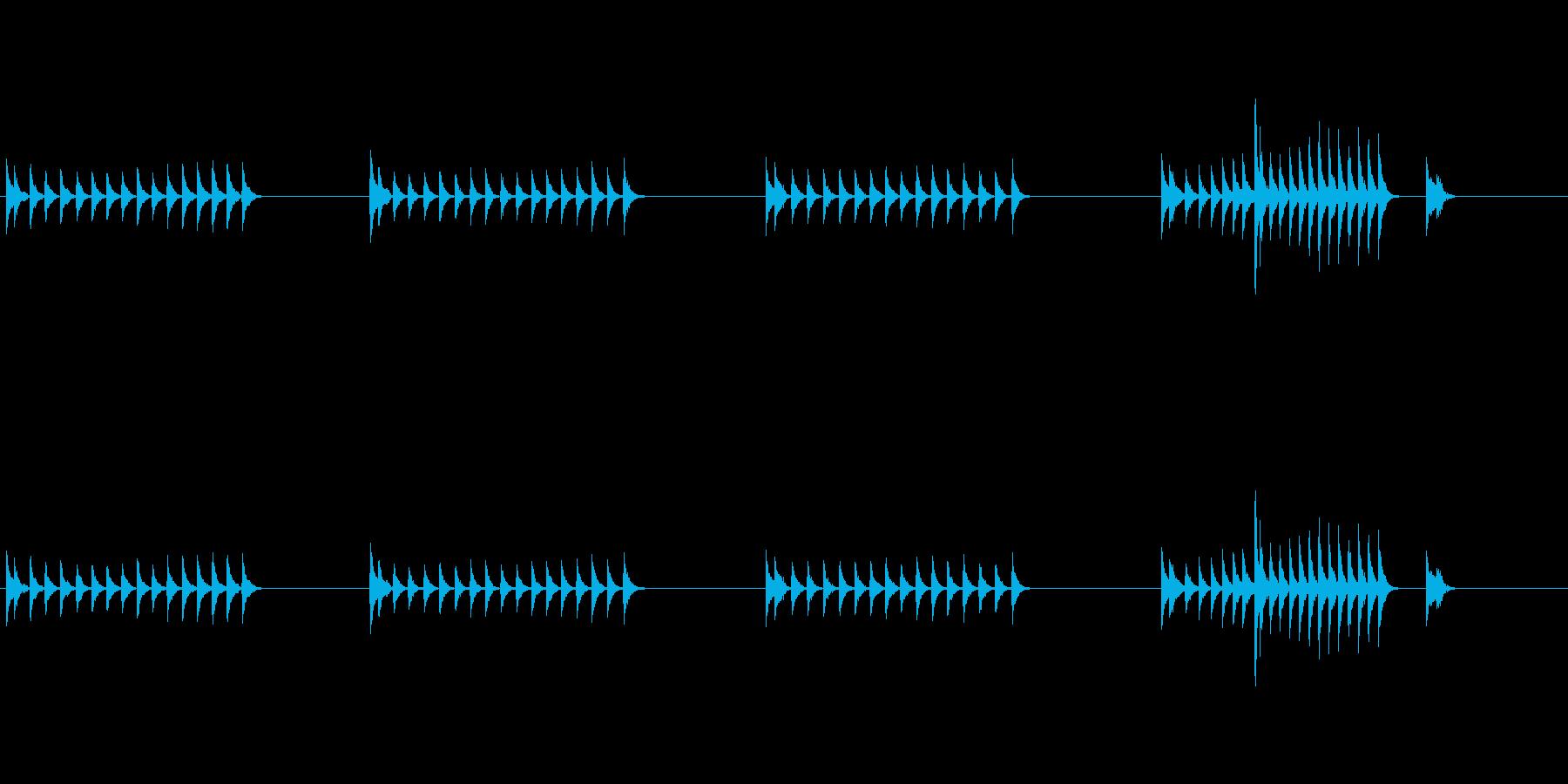 大太鼓23山ヲロシ歌舞伎情景描写和風和太の再生済みの波形