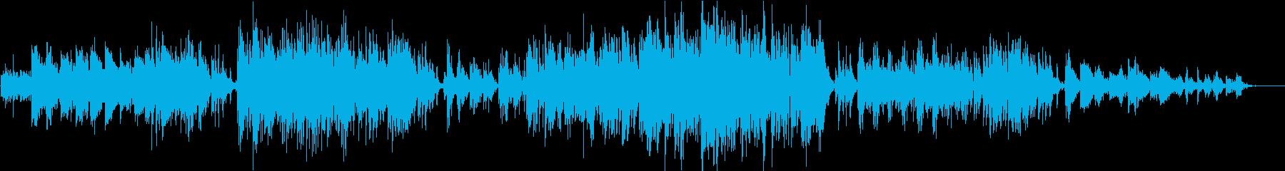 バリトンサックスとアコギのフォーキーな曲の再生済みの波形