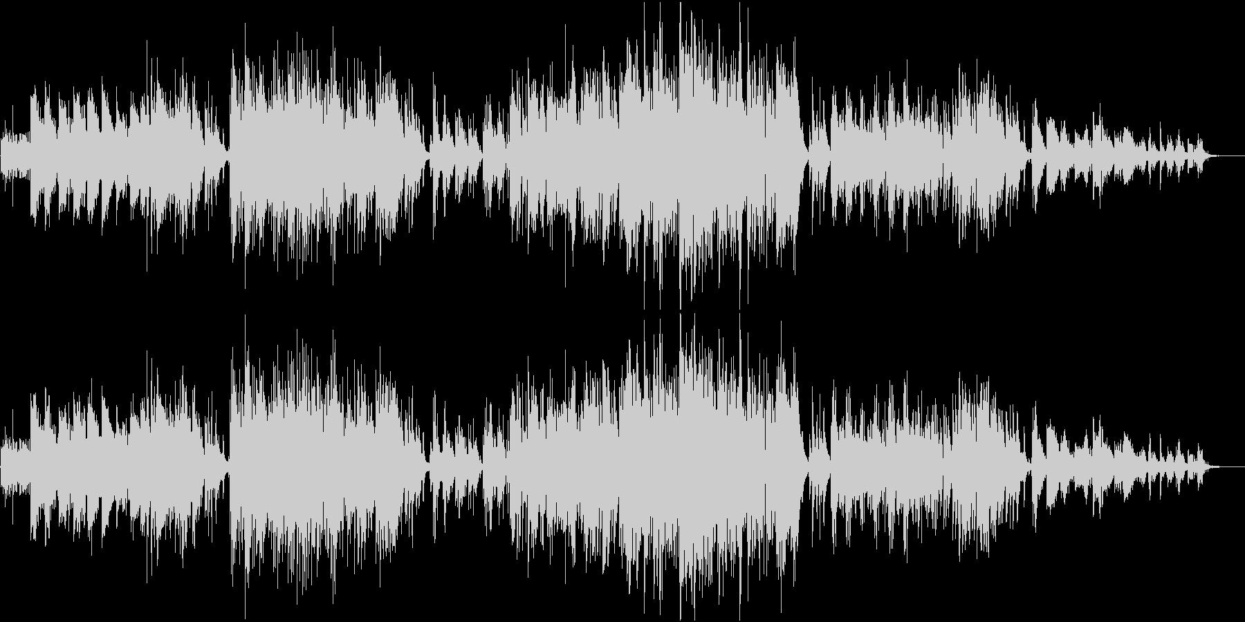 バリトンサックスとアコギのフォーキーな曲の未再生の波形