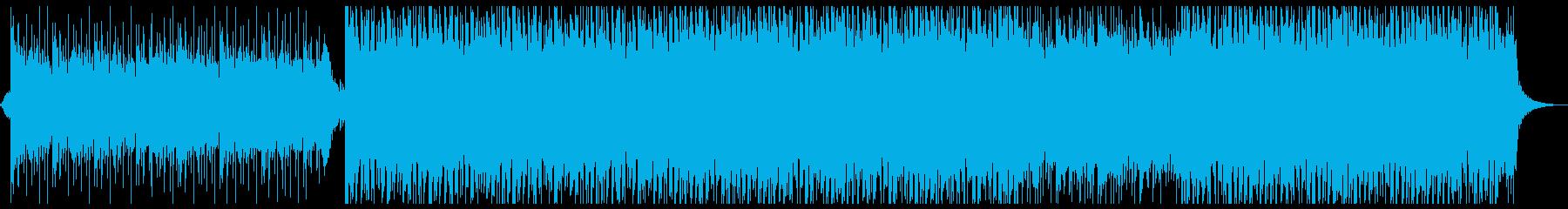 ドラマチックで壮大なシネマ系楽曲の再生済みの波形