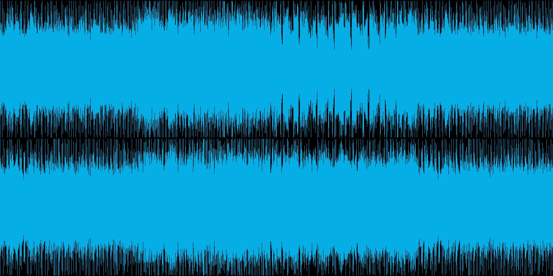 少しあやしげなヘヴィロックのギターリフの再生済みの波形