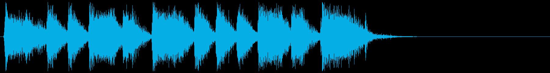 華やか疾走感 ビッグバンドジャズジングルの再生済みの波形
