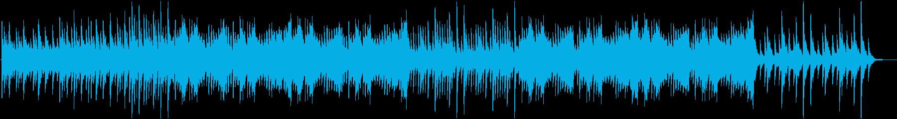 少し悲しい雰囲気の漂うワルツBGMの再生済みの波形