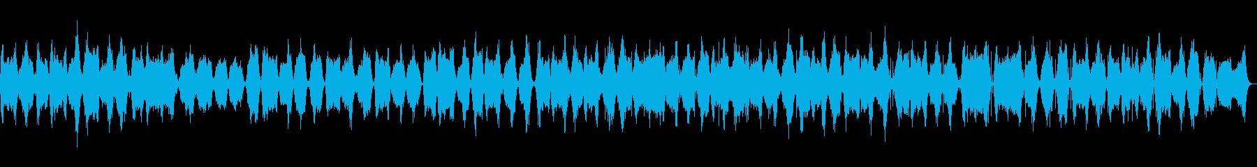 命を感じ幻想的なアンビエントミュージックの再生済みの波形