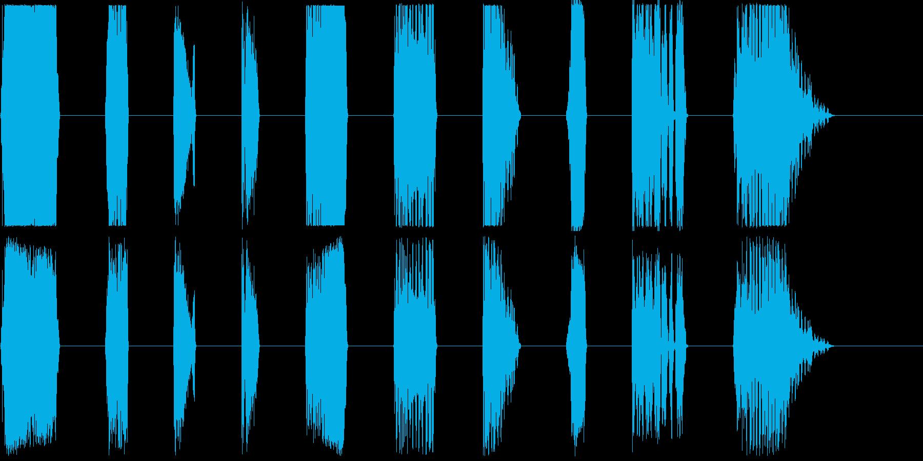 DJレーザーバースト1-10の再生済みの波形