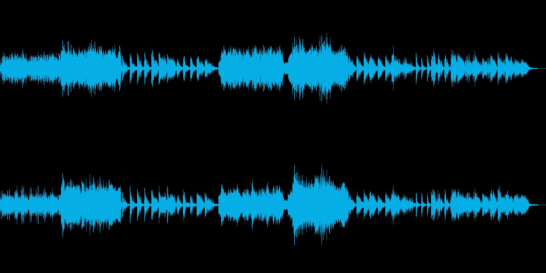 エンディング風のピアノとオーケストラの再生済みの波形