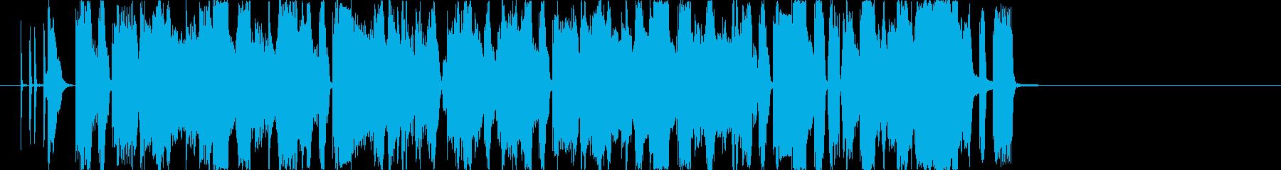 低音がノリノリなピコピコ系グリッチホップの再生済みの波形