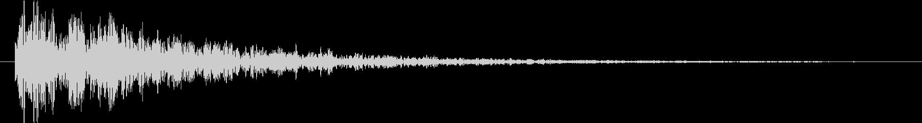 【ドーン】残響の効いたインパクト音2の未再生の波形