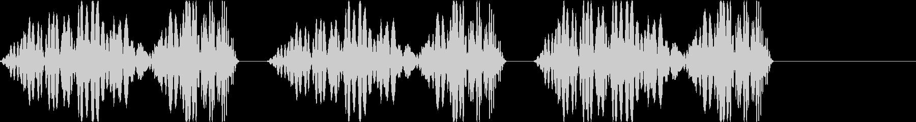 DJプレイ スクラッチ・ノイズ 253の未再生の波形