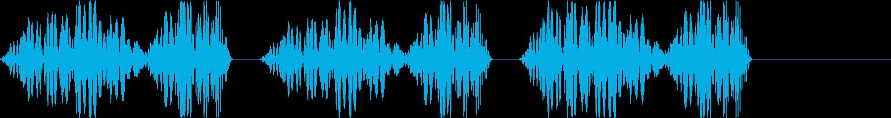 DJプレイ スクラッチ・ノイズ 253の再生済みの波形