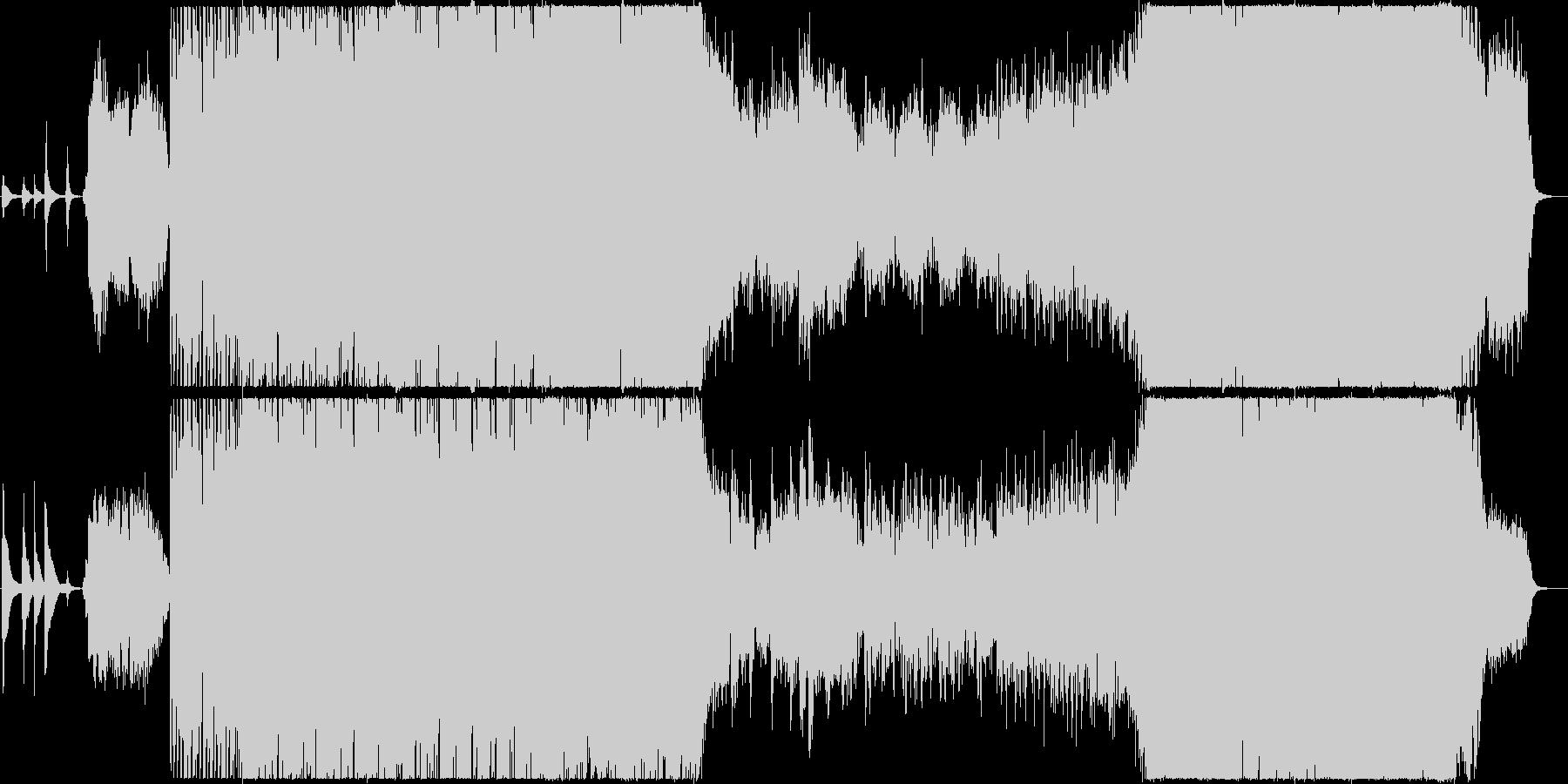 幻想的で最高に盛り上がる和風BGMの未再生の波形