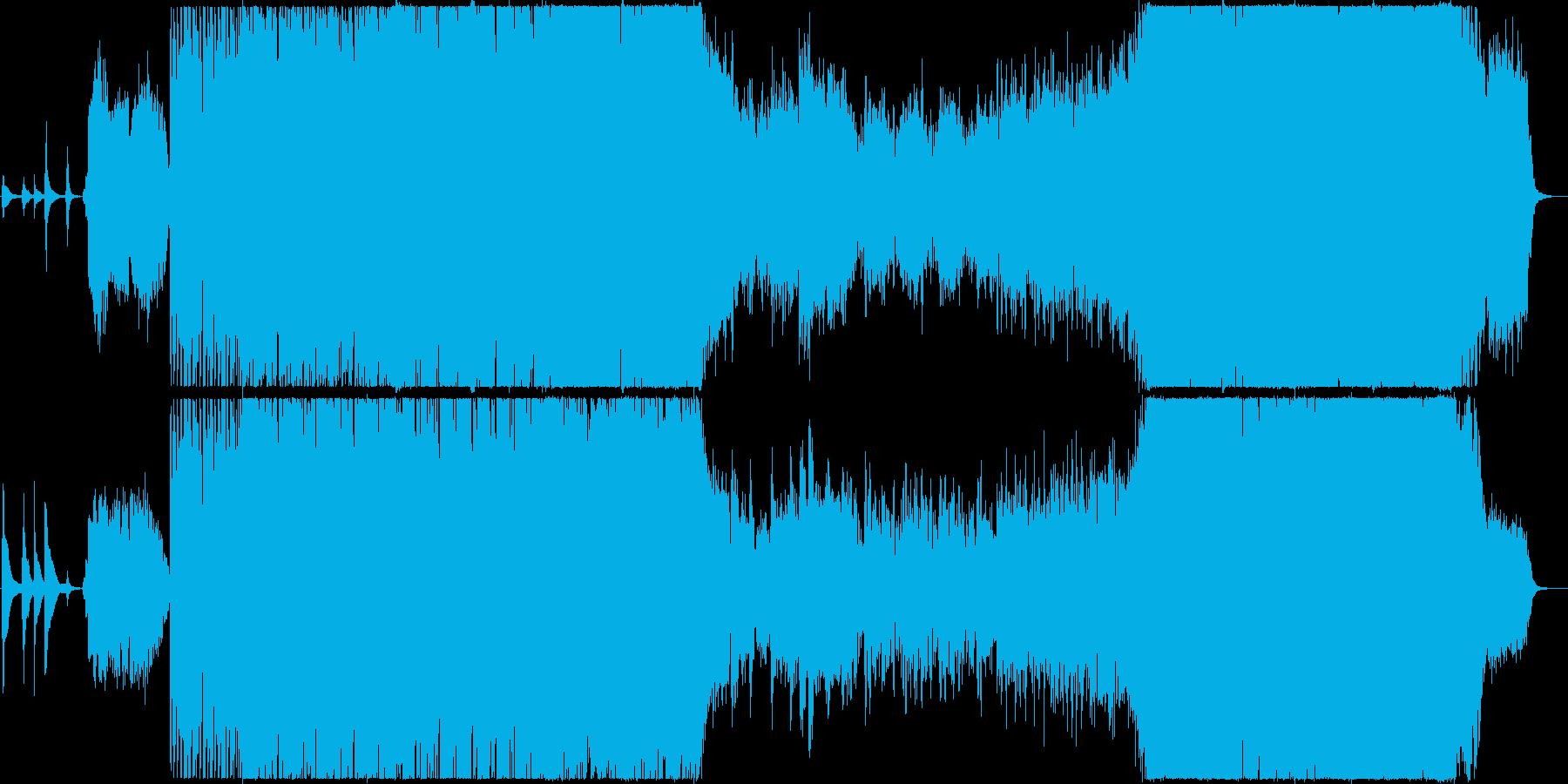 幻想的で最高に盛り上がる和風BGMの再生済みの波形