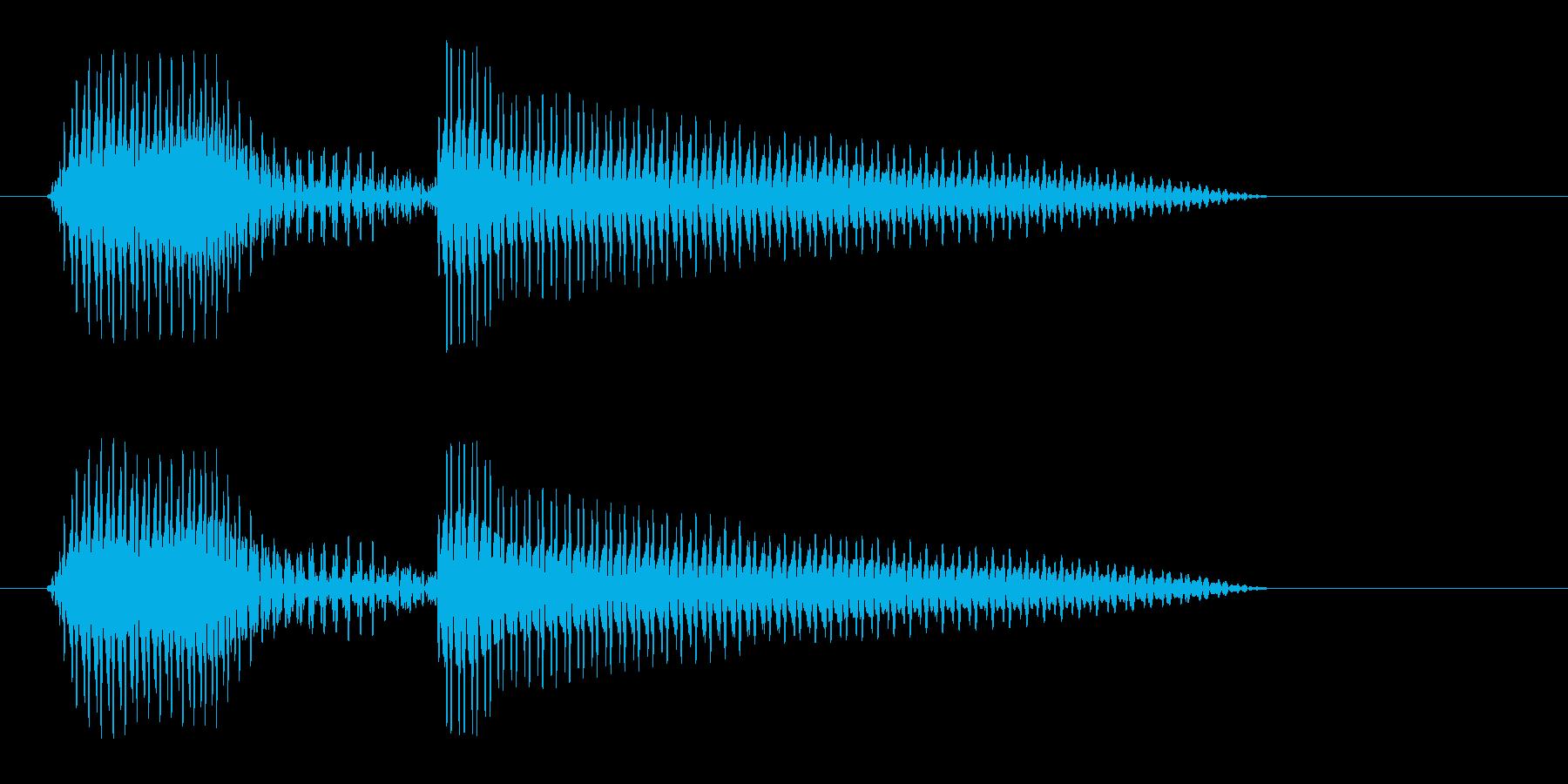 ハローという軽い挨拶の再生済みの波形
