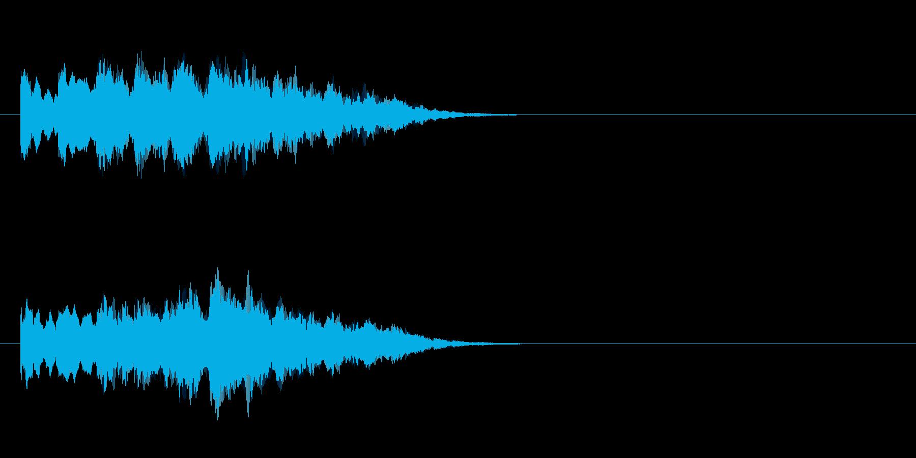 浮遊感のある神秘的なジングルの再生済みの波形