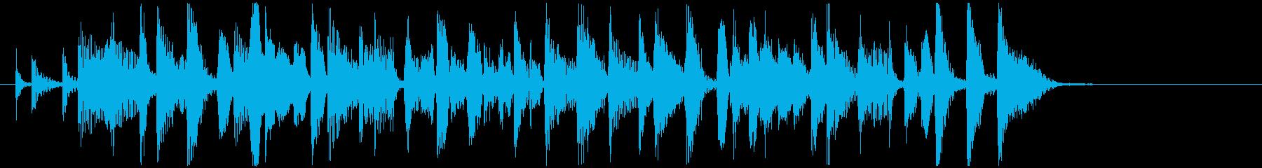 80's風味のファンキーなジングルの再生済みの波形