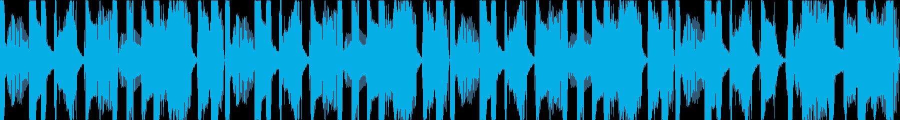 ヒップホップ(ウッドベース)なループの再生済みの波形