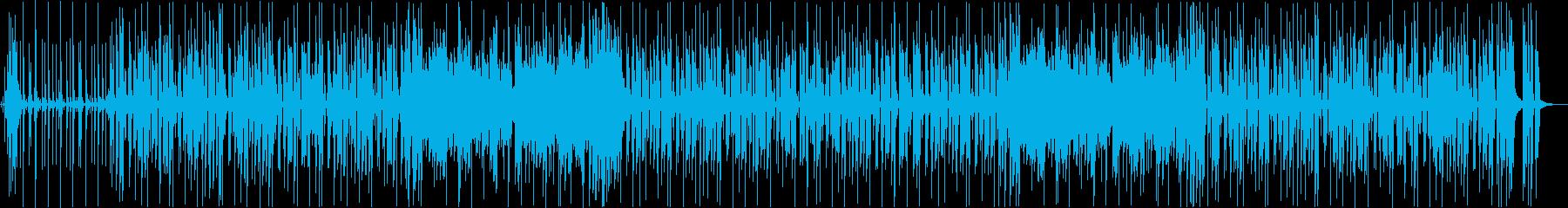 一定のリズムとレトロなジャズファンクの再生済みの波形