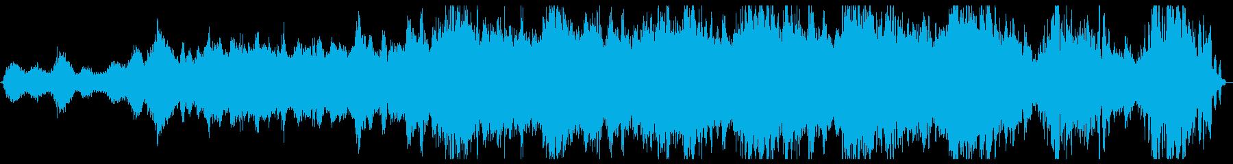 漂っている感じのアンビエント楽曲の再生済みの波形
