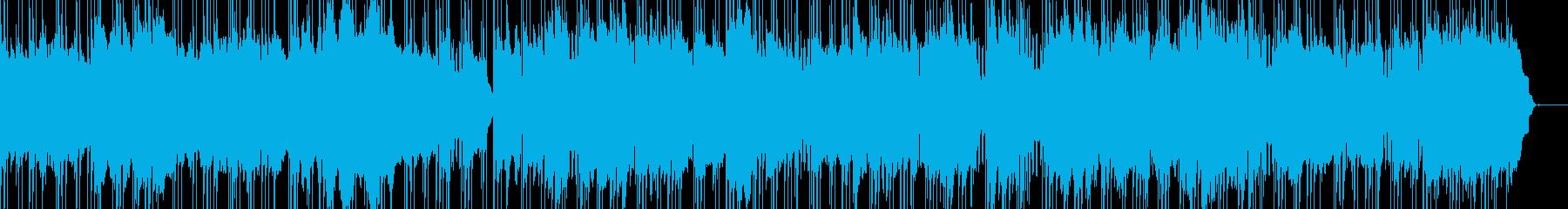 青い空を一線の筋をイメージしましたの再生済みの波形