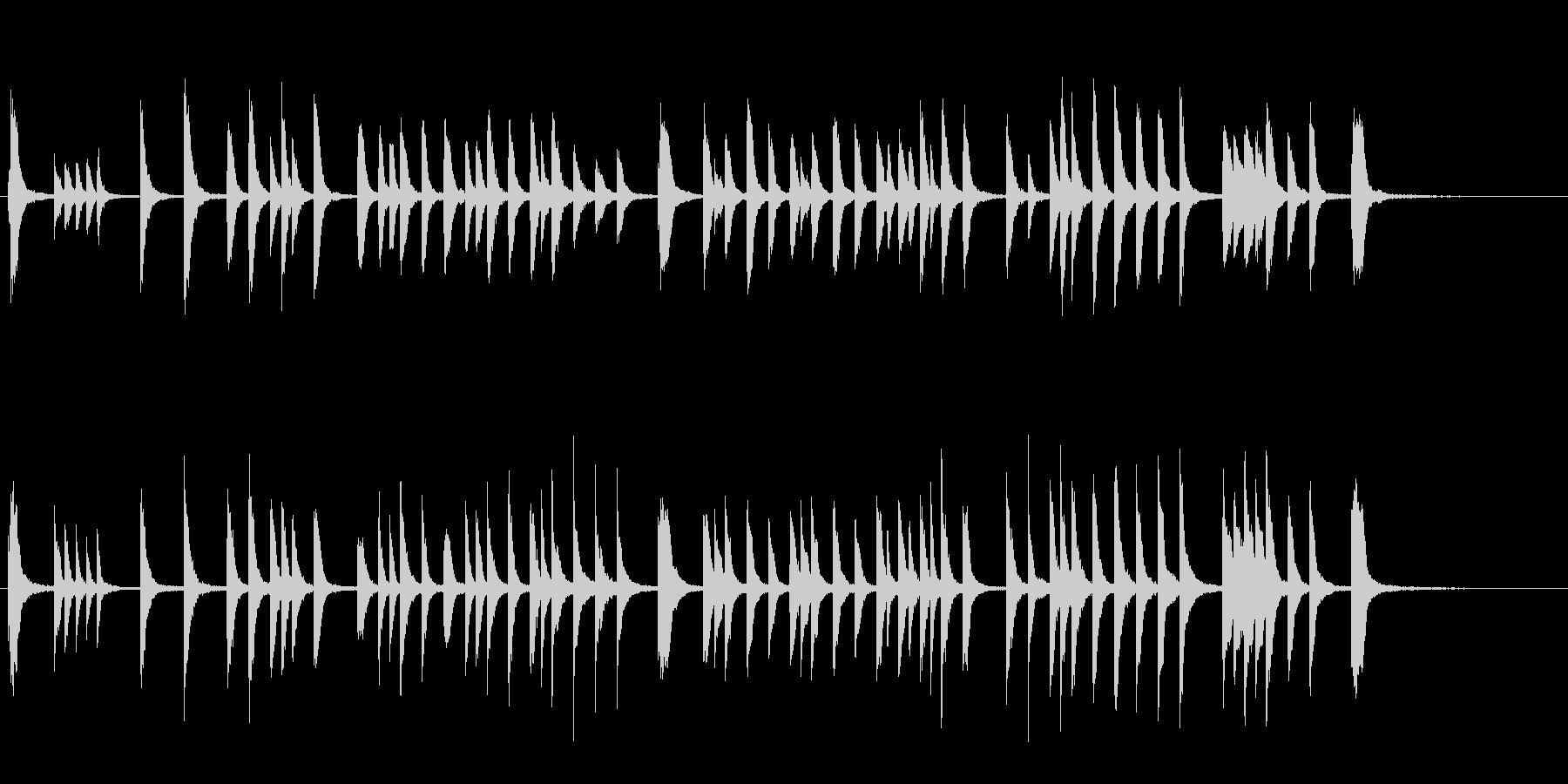 かわいい ほのぼの Eテレ風 ピアノ曲の未再生の波形