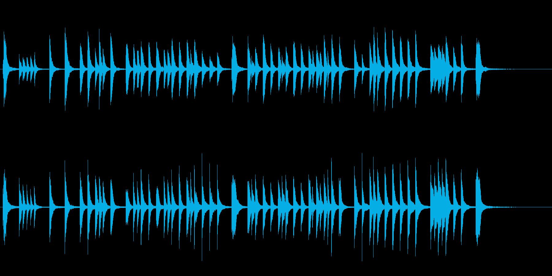 かわいい ほのぼの Eテレ風 ピアノ曲の再生済みの波形