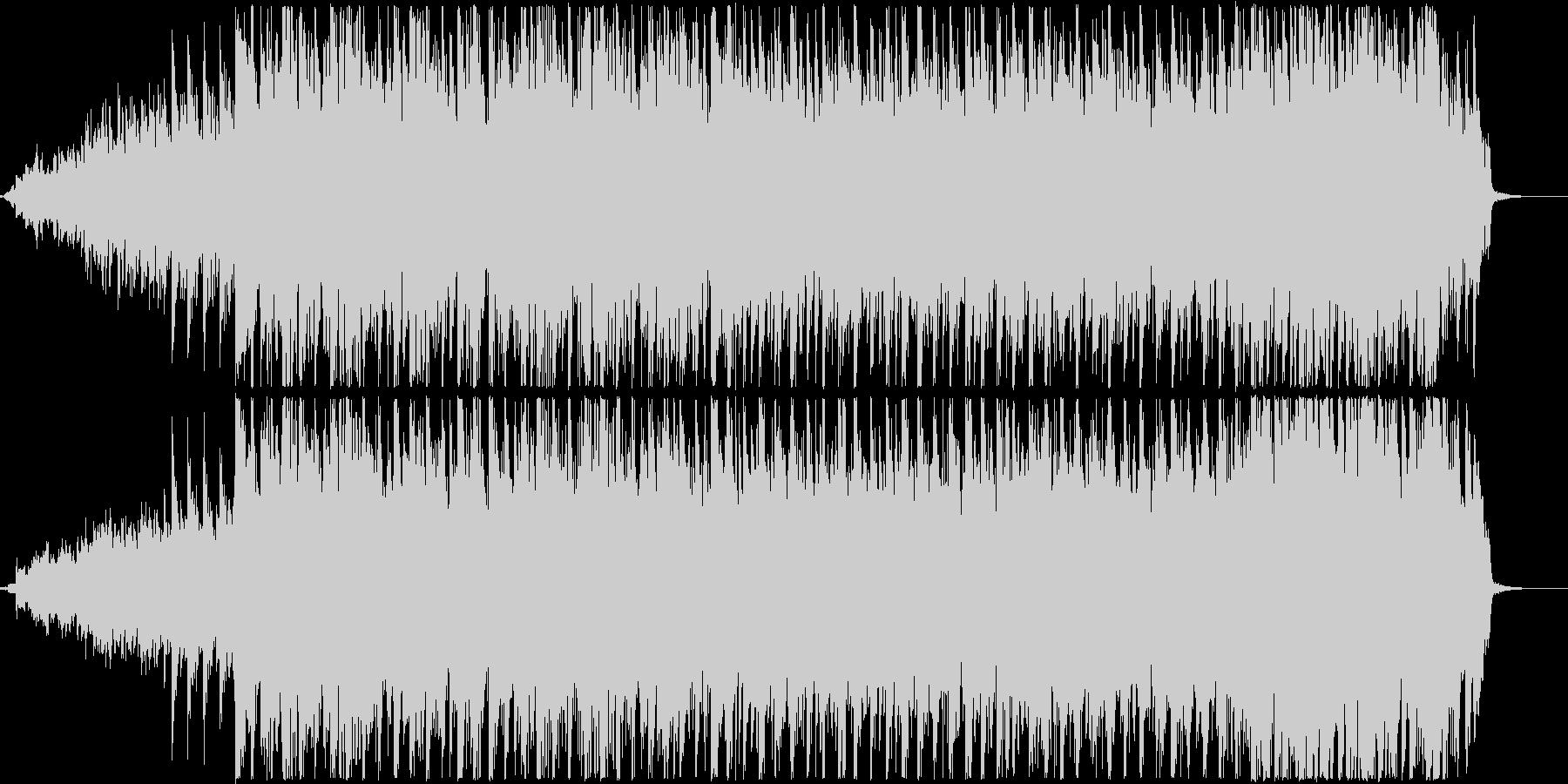 ピアノとギター、口笛を使用したポップな曲の未再生の波形