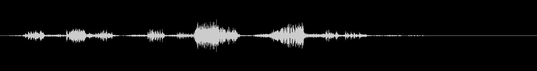小型ロボットが喋っている声の未再生の波形