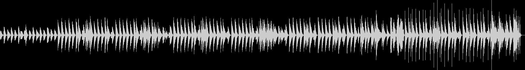 クリスマスに合うほのぼのとした木琴BGMの未再生の波形