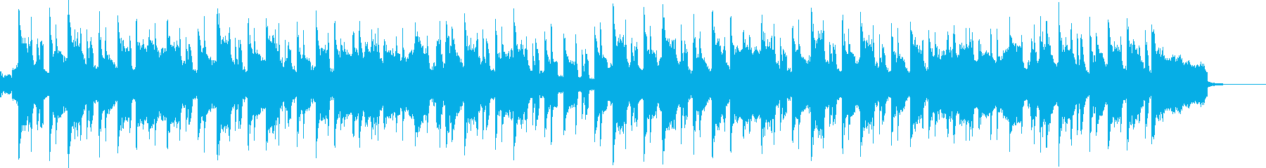 青空をイメージしたポップBGMの再生済みの波形