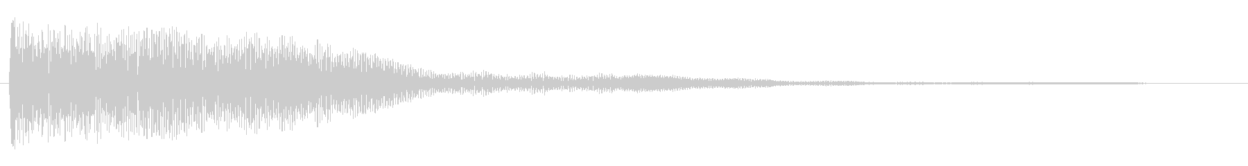 チョロリーン ゲーム 決定音 最終決定音の未再生の波形