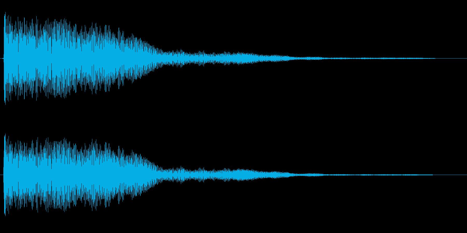 チョロリーン ゲーム 決定音 最終決定音の再生済みの波形