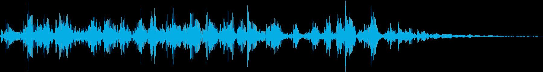 ごろごろと転がす音です。の再生済みの波形