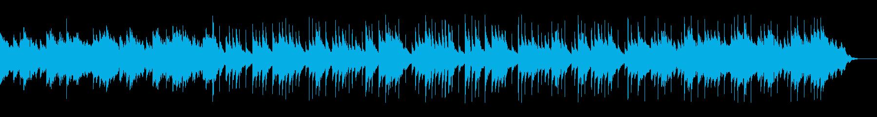 ゆったりとしたピアノとアコギ、カホンの再生済みの波形