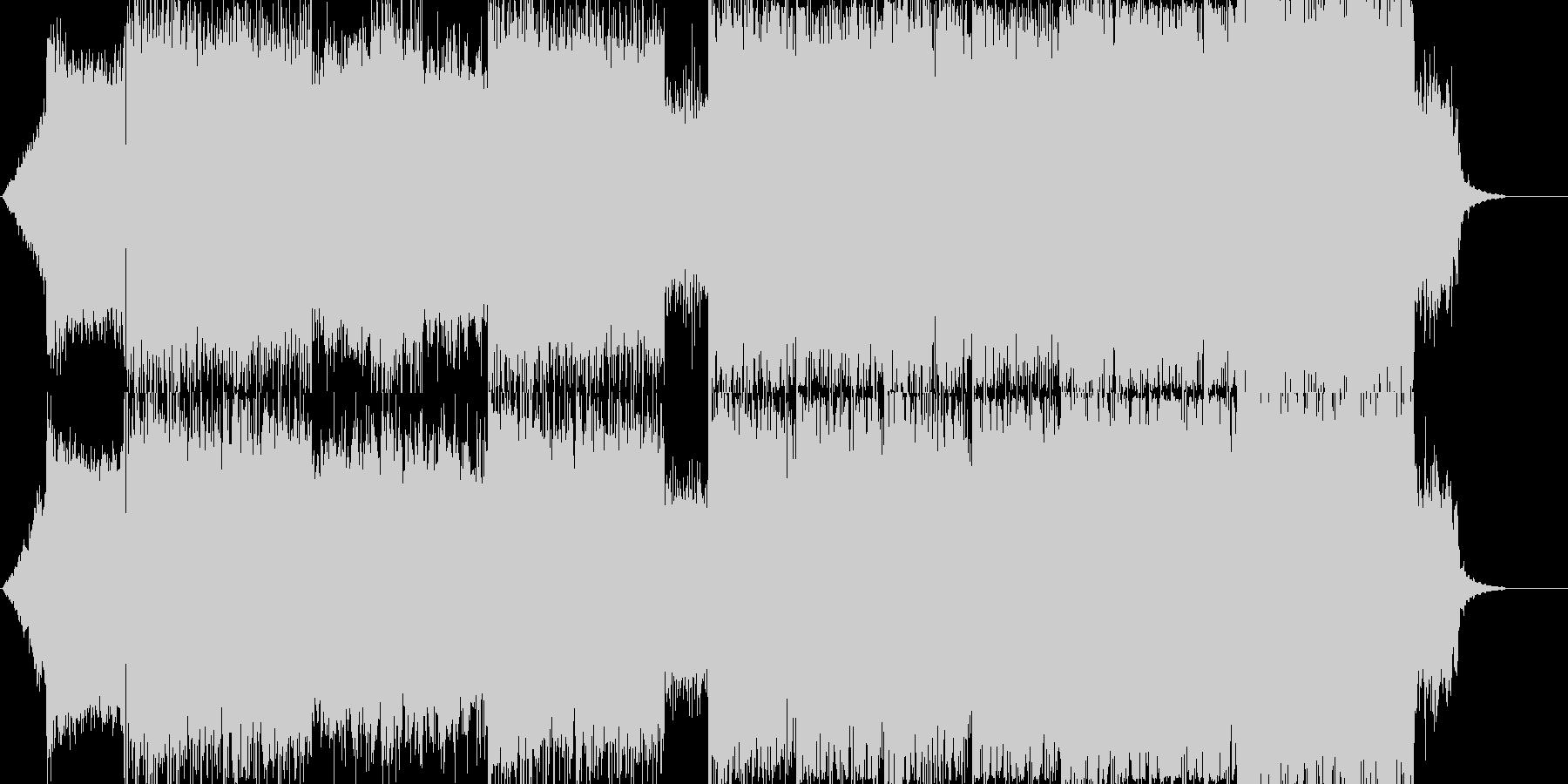 8弦ギターによる低音リフBGMの未再生の波形