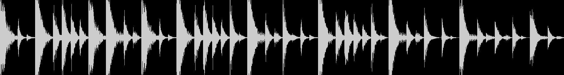 ドラムンベースのリズムループパターン#2の未再生の波形